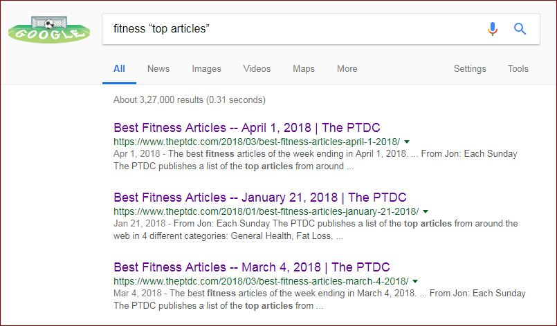 Google Search to find link building opportunities
