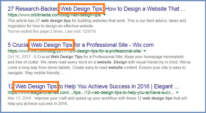 Include Keyword at the Beginning of Your Title