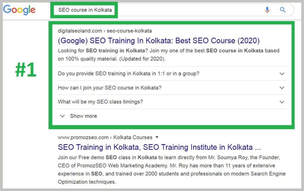 SEO course in Kolkata