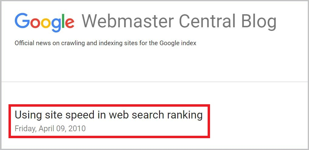 Using site speed in web search ranking