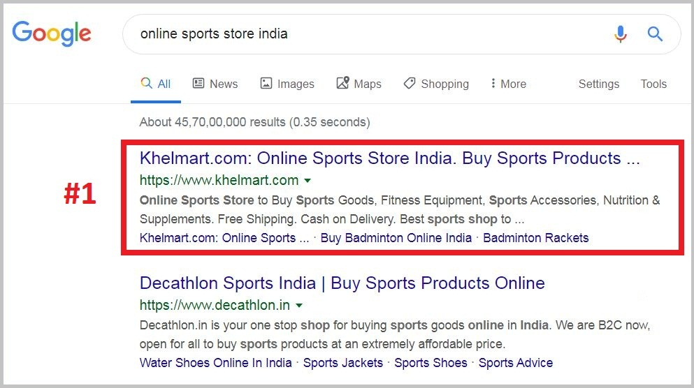 online sports store india