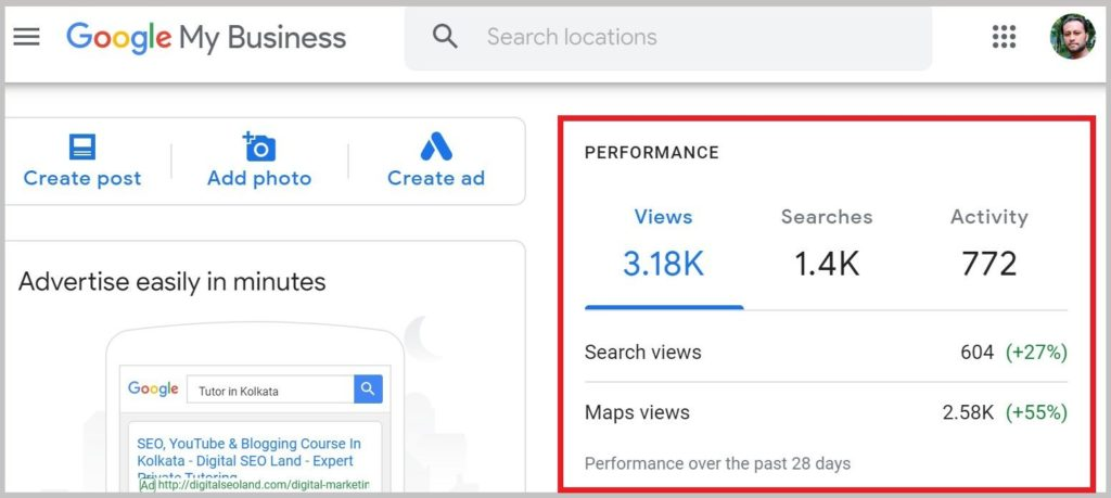 Google My Business SEO Results