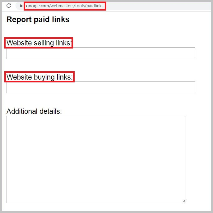 Google report paid links
