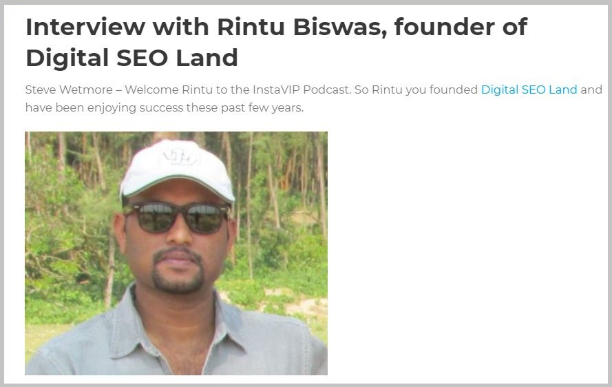 Rintu Biswas founder of Digital SEO Land